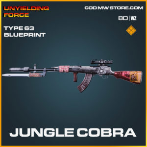 Jungle Cobra type 63 blueprint skin in Cold War and Warzone