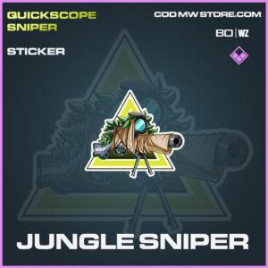 Jungle Sniper sticker in Cold War and Warzone