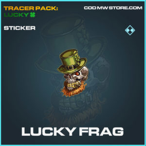 Lucky Frag sticker in cold war and warzone