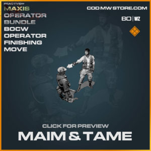 Maim & Tame Finishing Move in Cold War and Warzone