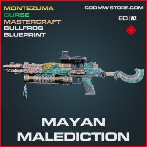 Mayan Malediction Bullfrog Mastercraft blueprint skin in Cold War and Warzone