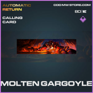 Molten Gargoyle calling card in Cold War and Warzone
