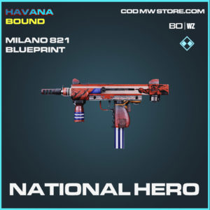 National Hero Milano 821 blueprint skin in Cold War and Warzone