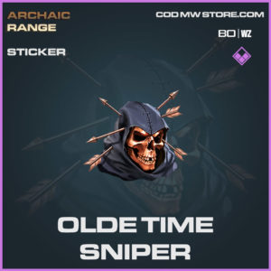 Olde Time Sniper sticker in Cold War and Warzone