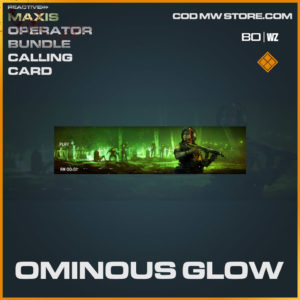 Ominous GLow calling card in Cold War and Warzone