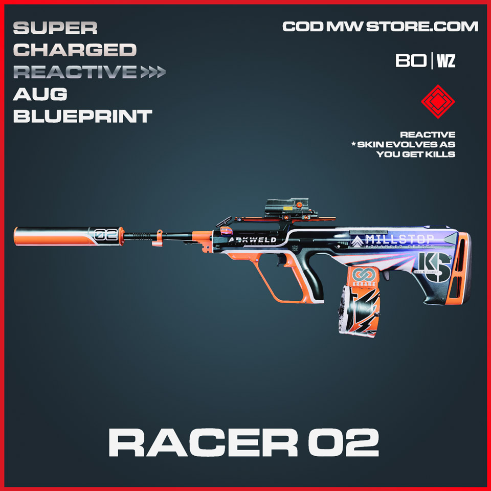 Racer 02 AUG blueprint skin in Cold War and Warzone
