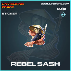 Rebel Sash sticker in Cold War and Warzone