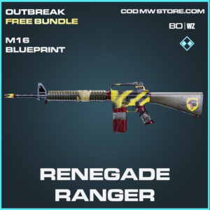Renegade Ranger M16 blueprint skin in Cold War and Warzone