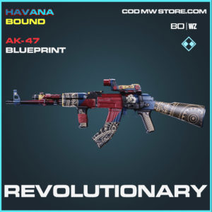 Revoluationary AK-47 bluepritnt skin in Cold War and Warzone