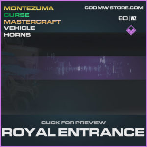 Royal Entrance Vehicle Horns epic in Cold War and Warzone