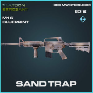 Sand Trap m16 blueprint skin in Cold War and Warzone