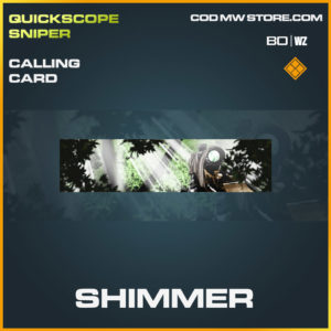 Shimmer calling card in Cold War and Warzone