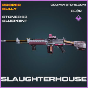 Slaughterhouse stoner 63 blueprint skin in Cold War and Warzone