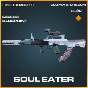 Soul Eater QBZ-83 blueprint skin in Cold War and Warzone