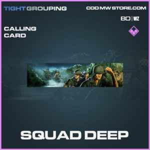 Squad Deep calling card in Cold War and Warzone