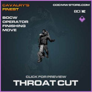 Throat Cut Finishing Move in Cold War and Warzone