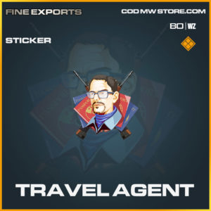 Travel Agent sticker in Cold War and Warzone