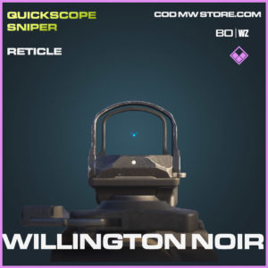 Willington Noir reticle in Cold War and Warzone