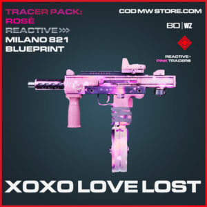 XOXO Love Lost Milano 821 blueprint skin in Cold War and Warzone