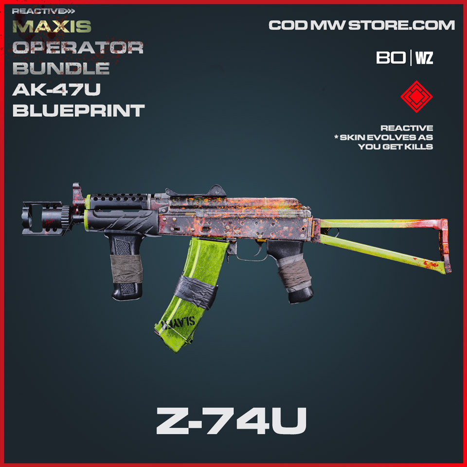 Z-74U reactive blueprint skin in Cold War and Warzone