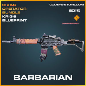 Barbarian Krig 6 blueprint skin in Cold War and Warzone