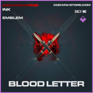 Blood Letter emblem in Cold War and Warzone