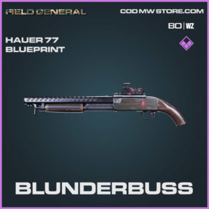 Blunderbuss Hauer 77 blueprint skin in Cold War and Warzone