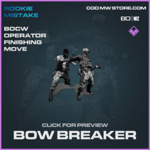 Bow Breaker Operator Finishing Move in Cold War and Warzone