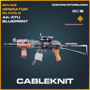 Cableknit AK-47u blueprint skin in Cold War and Warzone