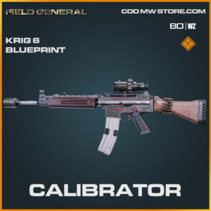 Calibrator Krig 6 blueprint skin in Cold War and Warzone
