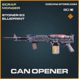 Can Opener Stoner 63 blueprint skin in Cold War and Warzone