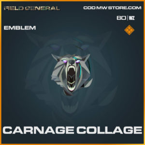 Carnage Collage emblem in Cold War and Warzone