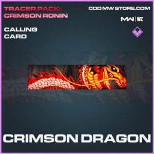 Crimson Dragon calling card in Modern Warfare and Warzone