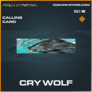 Cry Wolf Calling card in Cold War and Warzone