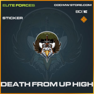 Death From Up High sticker in Cold War and Warzone