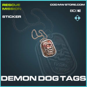 Demon Dog Tags sticker in Cold War and Warzone