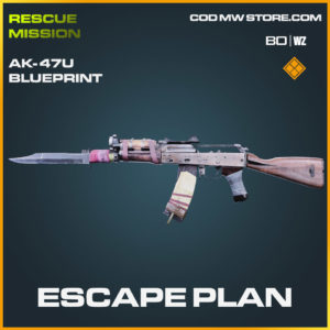 Escape Plan AK-47u blueprint skin in Cold War and Warzone