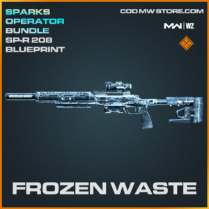 Frozen Waste SP-R 208 blueprint skin in Modern Warfare and Warzone