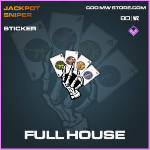 Full House sticker in Cold War and Warzone