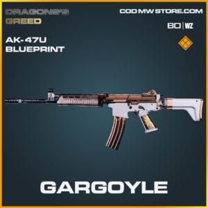 Gargoyle ak-47u blueprint skin in Cold War and Warzone