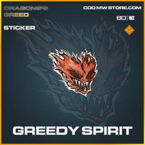 Greedy Spirit sticker in Cold War and Warzone