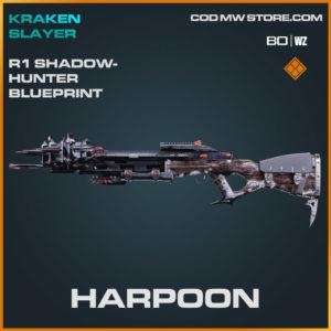 Harpoon R1 Shadowhunter blueprint skin in Cold War and Warzone