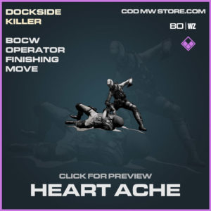 Heart Ache Finishing move in Cold War and Warzone