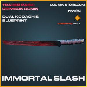 Immortal Slash Dual Kodachis blueprint skin in Modern Warfare and Warzone