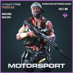 Motorsport Sims skin in Cold War and Warzone