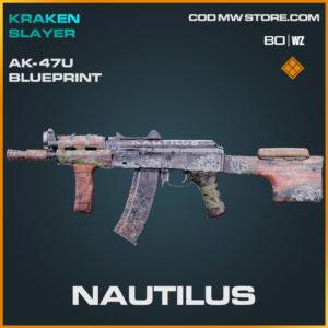 Nautilus Ak-47u blueprint skin in Cold War and Warzone