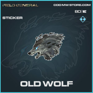 Old Wolf Sticker in Cold War and Warzone