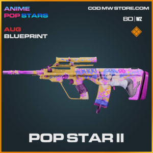 Pop Star II AUG blueprint skin in Cold War and Warzone