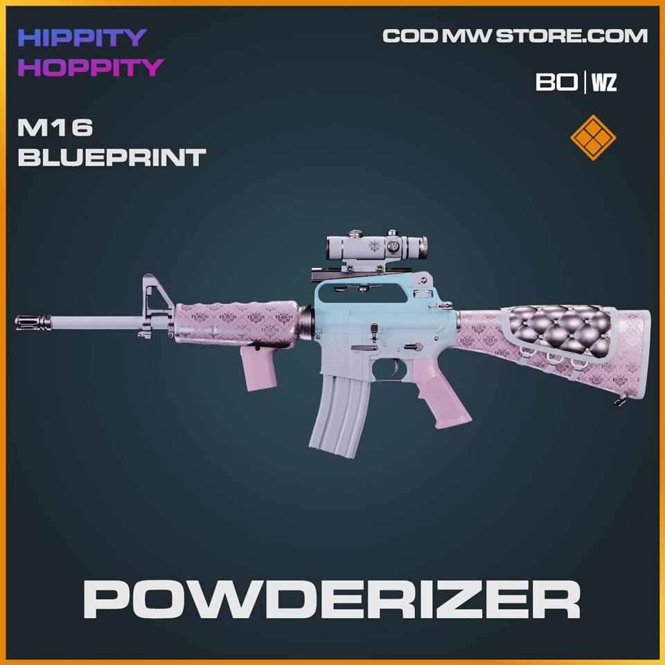 Powderizer M16 blueprint skin in Cold War and Warzone