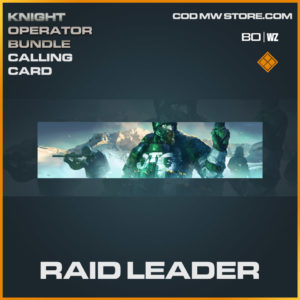 Raid Leader calling card in Cold War and Warzone